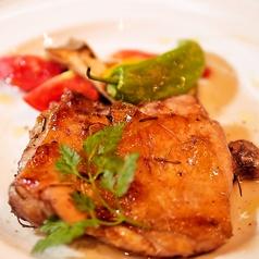 鶏もも肉の薪窯グリル