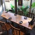5名様で利用できる広々としたテーブル席です★落ち着いた雰囲気で、女子会などにも最適です!★~水炊き・焼き鳥 とりいちず 目白駅前店~☆