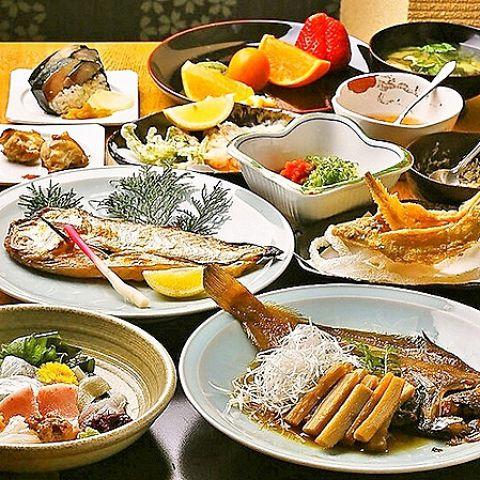 【同伴やデートに】旬の鮮魚と野菜を贅沢に味わえる!隼人おまかせコース料理A☆11品/8000円☆