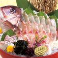 幹事様必見!選べる宴会特典2『宴会を豪華に彩ります!真鯛の姿造りプレゼント♪』