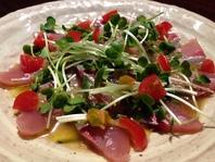鮮魚のカルパッチョ(800円)