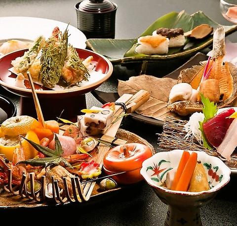 秋田から直送した四季折々の旬の素材で作る料理と美しい和の雰囲気を堪能できる店。