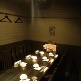 最大8名様までOKなテーブル席個室