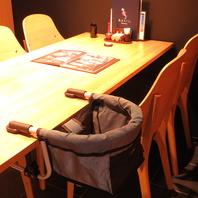 お子様専用テーブル有り!ベビーカーも直接どうぞ!