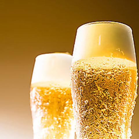 韓国料理に合う生ビールご提供♪追加で韓国焼酎も◎2H飲み放題2時間単品飲み放題2000円→1500円