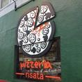 手作りのピザをイメージした看板のデザイン♪