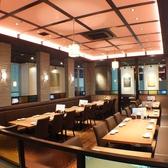 広々40名様用テーブル席【新宿で居酒屋・蟹・海鮮・和食のお店をお探しなら北海道へ】