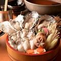 料理メニュー写真要予約【名物】牡蠣のしゃぶしゃぶ 1人前