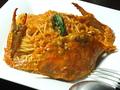 料理メニュー写真渡り蟹のしゃぼん玉風