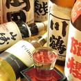 日本酒や焼酎、特に芋焼酎は、うどん屋さんとは思えない豊富な品揃え。