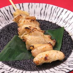 鶏かわ串(2本)