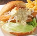 料理メニュー写真真鯛フィッシュバーガー