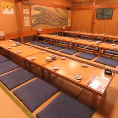 最大宴会の収容人数は50名様まで。会社宴会には最適。コース3380円~