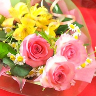 【花束もプレゼント】