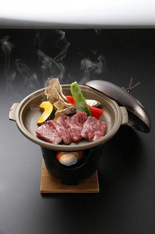 A5飛騨牛陶板ステーキの入ったご馳走満喫コース★お料理のみ4500円