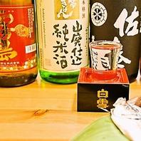色んなお酒と魚貝を楽しんでください。