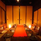 8名様用の完全個室です。歓送迎会や女子会、合コン、記念日サプライスなど幅広いシーンでご利用いただけます。
