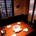 夜景の見えるテーブル席