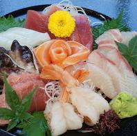 市場直送の新鮮な海の幸を使った海鮮類