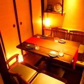 4名様向けの個室です。女子会や記念日利用にぴったりです。ふすまでしっかりと区切られている完全個室なのでプライベート空間をお愉しみ頂けます。