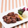 料理メニュー写真国産牛サイコロステーキ