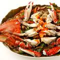 料理メニュー写真渡蟹と春雨の煮込み