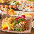 厳選した上質なお肉・農園野菜・旬の鮮魚を使用した飲み放題付きコースはリーズナブルに3000円~シーンに合わせて5000円まで5種ご用意しております!!10名様以上のご利用で幹事様が無料になる特典もご用意♪