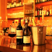 ボトルワイン2800円~約25種類をご用意