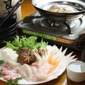 料理メニュー写真タイと平目のしゃぶしゃぶ 〆雑炊付き(2人前)