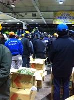 オーナーが毎早朝、市場で食材を吟味し競りに参加します