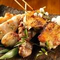 料理メニュー写真国産美桜鶏の串焼き 5本盛り合わせ