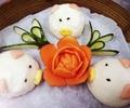 料理メニュー写真コブタ饅頭(3個)