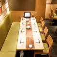 広いテーブル席はお食事にぴったりです♪※画像は系列店です。