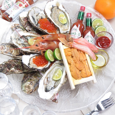 うにと牡蠣と日本酒と 鮨 遊成