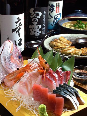 静岡の地酒とこだわり食材の地の物メニューをご用意しております。