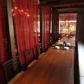 【宴会に大人気☆】宴会にオススメ!カーテンで仕切った半個室、カジュアルに過ごしやすい空間になっております。