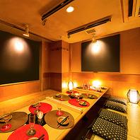 【全席掘りごたつ個室】様々な用途に合わせた空間づくり