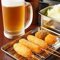 新世界の串かつ「いっとく」飲み放題コースは980円~!