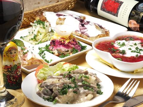 ロシアレストラン スカズカ 錦糸町
