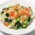 料理メニュー写真海老ときゅうりと山芋のさっぱり炒め
