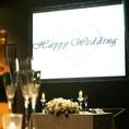 プロジェクター完備☆結婚式二次会や各種貸切パーティーにご利用頂けます♪