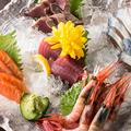 料理メニュー写真鮮魚刺身五点盛り合わせ