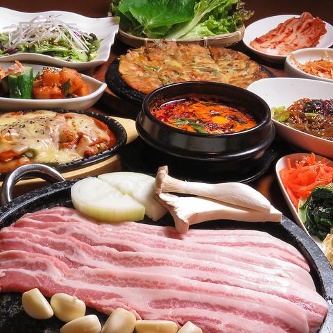 韓国料理×宴会は『韓国料理専門店 月の壺』で!飲み放題付きのコースで各種宴会も◎
