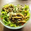 料理メニュー写真いろいろキノコとアスパラのバター焼き温サラダ(M:2名様分)