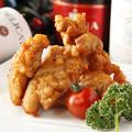 料理メニュー写真特選 地鶏の焦がし唐揚げ