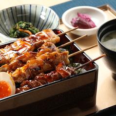 博多焼き鳥重御膳(小鉢・漬物・味噌汁付)