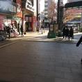 横川駅南口改札口をでてアーケードに向かいます。