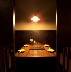 2名~4名様までの個室のテーブル席です!個室になっているので、デートに最適♪恋人との記念日や誕生日のお祝いをするならこちらのお席がおすすめです!人気のお席となっておりますので、ご予約はお早めに☆お気軽に店舗までご連絡下さい♪