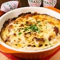 料理メニュー写真マッシュポテトとボロネーゼのグラタン