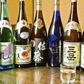 【日本酒★焼酎★全24種 】板前の絶品料理にぴったりの日本酒や焼酎を各種取り揃えております。ボトルキープもあり!各種ご宴会におすすめ◎
